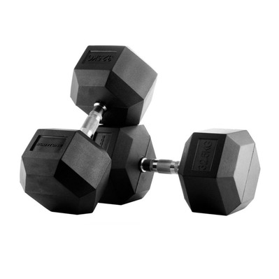 BODYTONE - H37 - Rubber Hexagonal Dumbbells 37.5kg - black