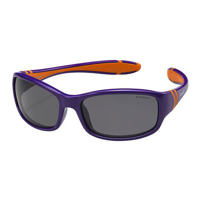 POLAROID - PLD 8000/S - polarisierte Sonnenbrille - Junior - purple/orange/smoke