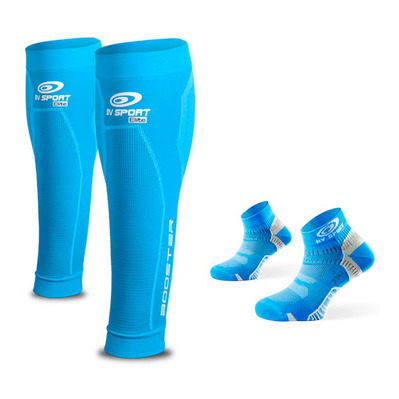 BV SPORT - PACK BOOSTER ELITE - Beinlinge + Socken - Femme blue