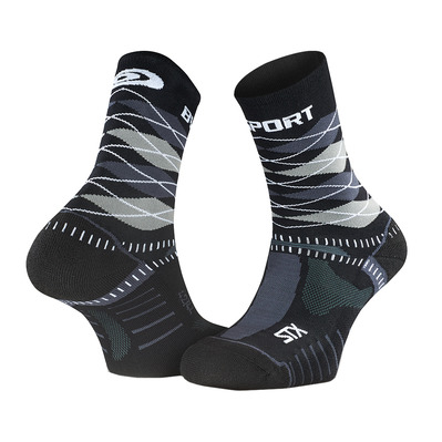 BV SPORT - STX EVO COLLECTOR - Socken - black/grey