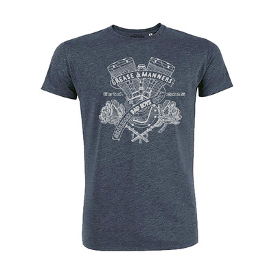 Vestons & Pistons - GREASE AND MANNERS - T-Shirt - Men's - dark heather blue