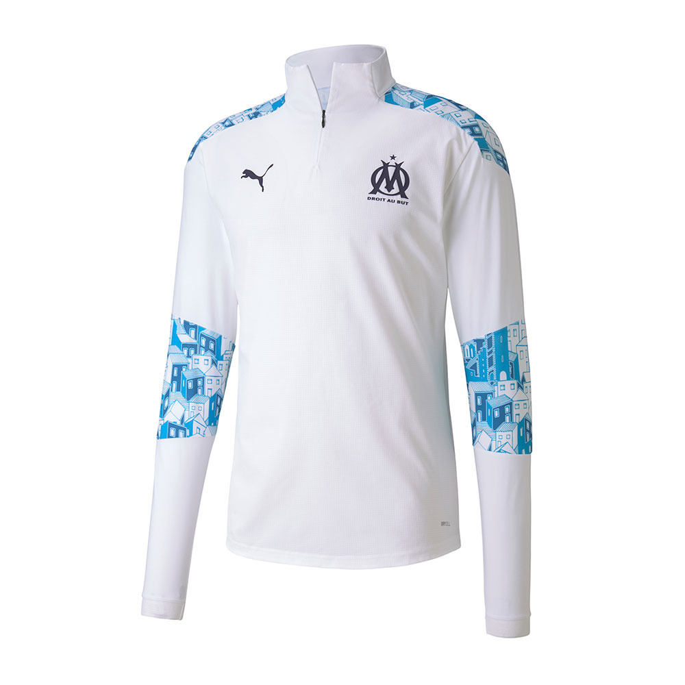 PUMA Puma OM HOME STADIUM 1/4 ZIP - Jacket - Women's - azure blue ...
