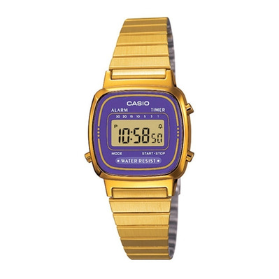 CASIO - VINTAGE - Digital Watch - gold/violet