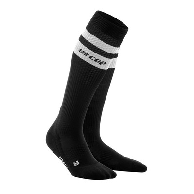 CEP - 80'S COMPRESSION SOCKS WP50V - Chaussettes de compression Homme black/white