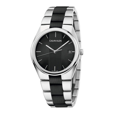 Calvin Klein - CONTRAST - Quartz Watch - Women's - silver