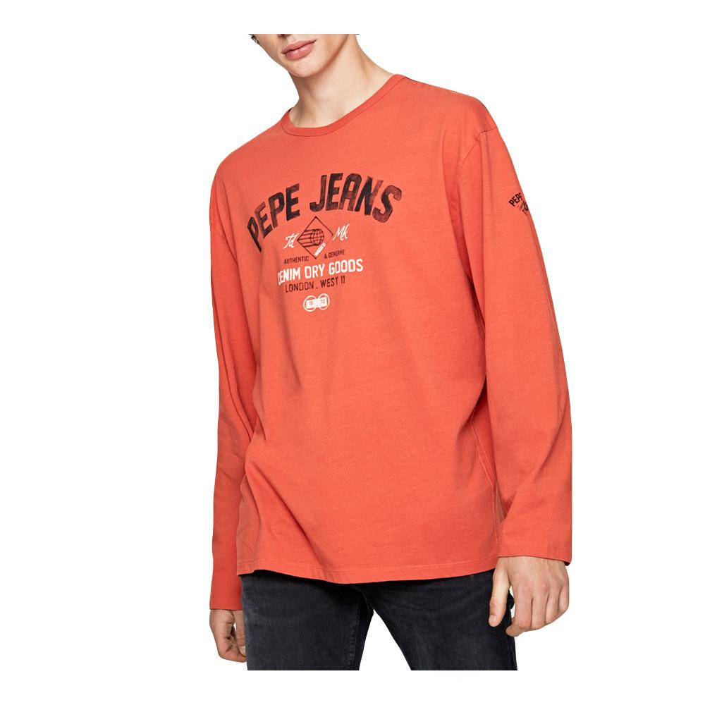Brand Polo Shirts T Shirts Pepe Jeans Janick T Shirt Men S York Orange Private Sport Shop