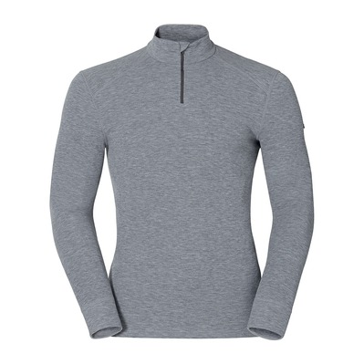 ODLO - LS Base Layer - 1/2 Zip - Men's - WARM grey marl
