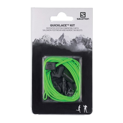 SALOMON - QUICKLACE - Cordones green