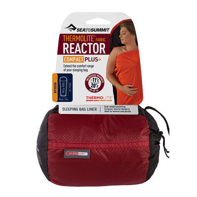 SEA TO SUMMIT - THERMOLITE REACTOR COMPACT PLUS - Drap sac de couchage rouge