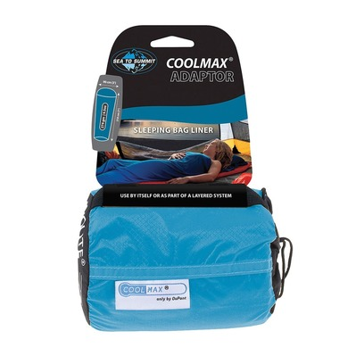SEA TO SUMMIT - COOLMAX ADAPTOR - Lenzuolo sacco a pelo blu