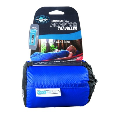 SEA TO SUMMIT - COOLMAX ADAPTOR - Schlafsack-Laken blau